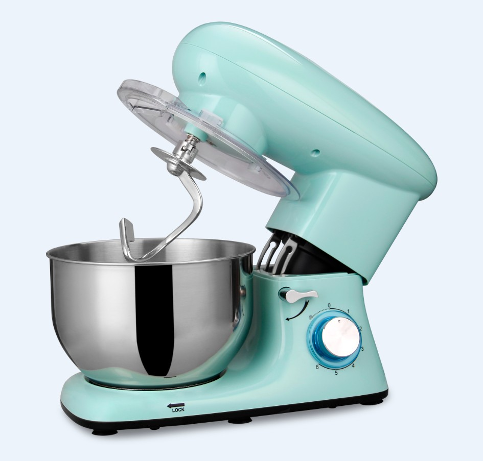 Sanlida 660W Stand Mixer with 5QT One Handle Stainless Steel Bowl Tilt-Head Planetary Food mixers Impastatrice