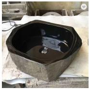carved marble sink