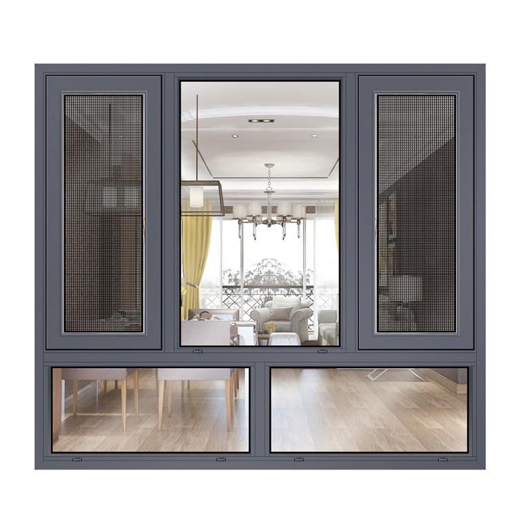 replacement grey finish window sizes/ghana aluminum windows