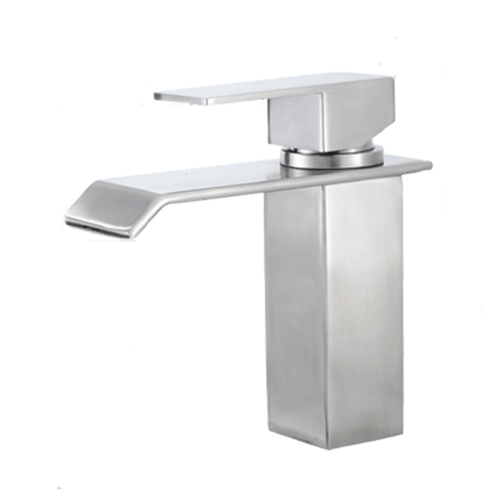 SS323-Tengbo stainless steel square single hole single Handle waterfall basin faucet mixer