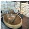 river stone bathroom sink