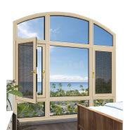 glass window with aluminium frame/aluminum accordion windows