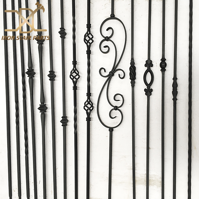 Satin Black Wrought Iron Stair Panel Metal Stiar Parts for Sale, High Quality wrought iron stair panel,wrought iron stair panel
