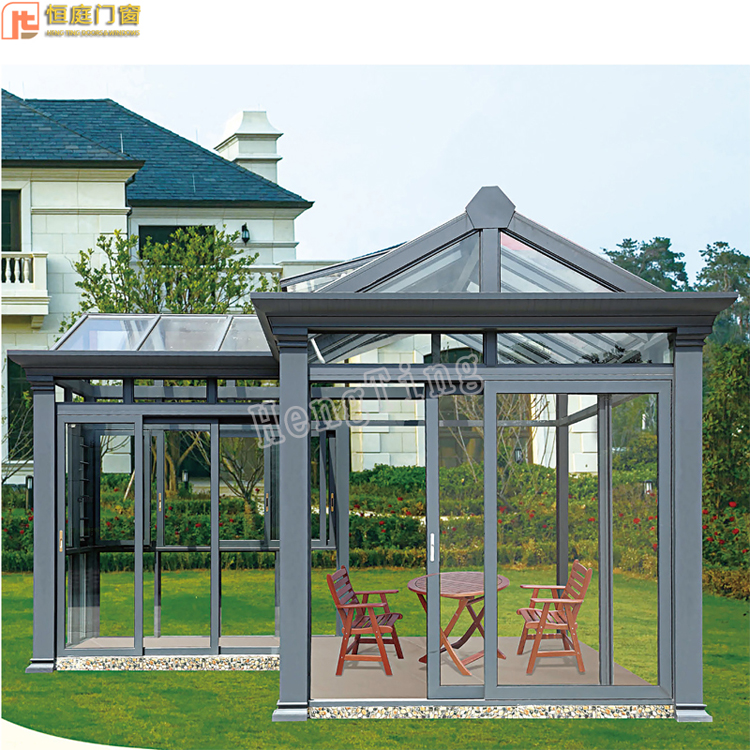 luxury high end screen room addition cost/curved glass roof sunroom