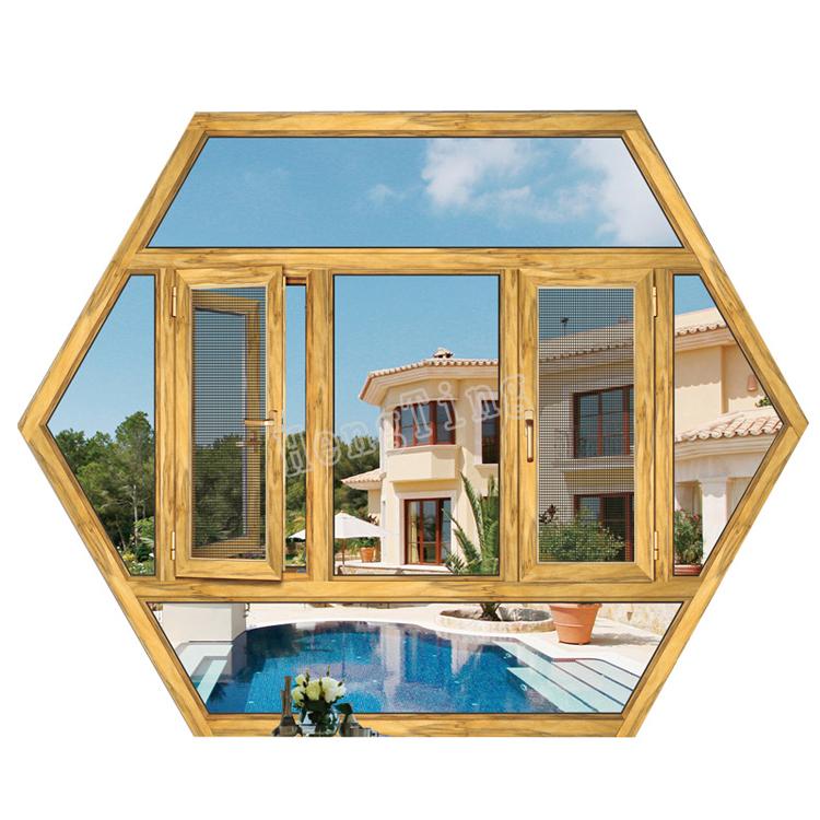 installing glass for aluminum windows/wood grain finish aluminum windows