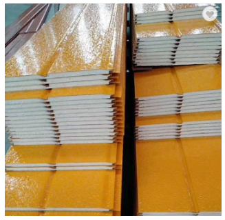 High Quality Yellow Energy Saving Exterior Decorative Insulated Wall Panel