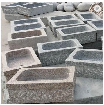 Marble granite water sink