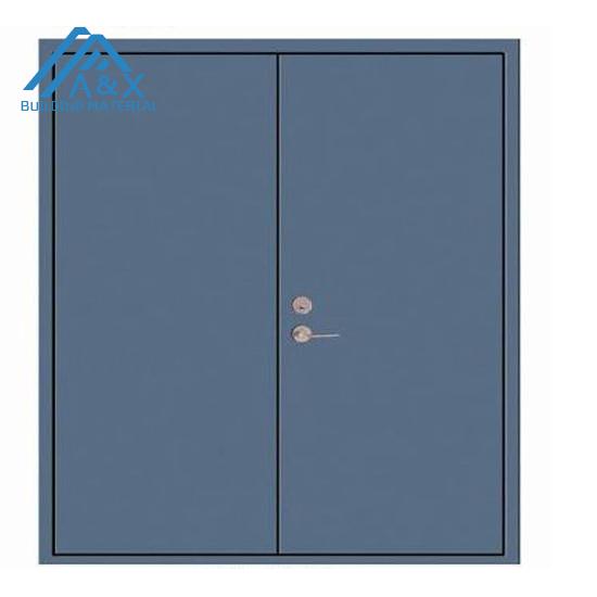 Sky blue Steel Fire Rated Door
