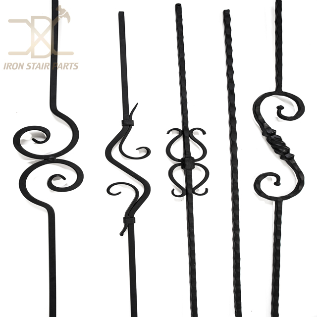Hot Sale Wrought Iron Balusters Wholesale Metal Balusters Canada Iron Railing and Scrolls, High Quality iron railing and scrolls