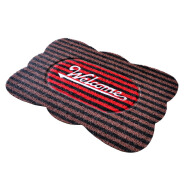 (CHAKME) Printed Fancy Design Non Slip Water Absorbent Kitchen Mat