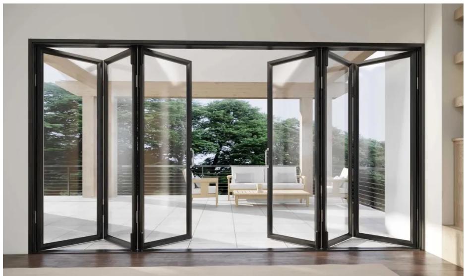 Aluminum Glass Folding Door Systems