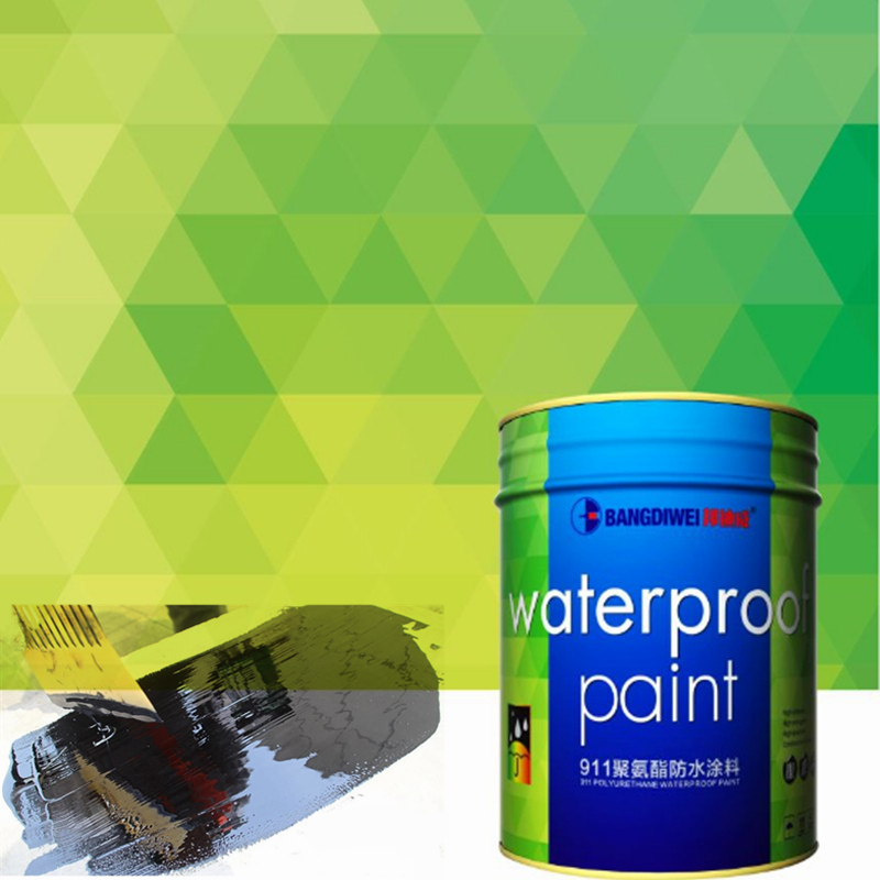 Two component 911 polyurethane waterproofing paint for swimming pools and basement