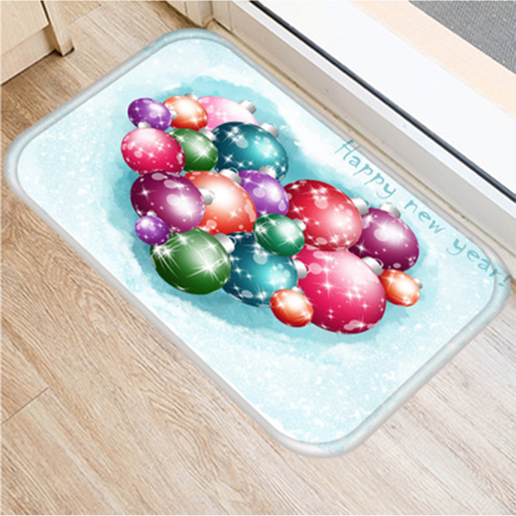 (CHAKME) Christmas new style product custom printed indoor colorful floor protective mat