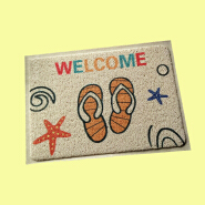 (CHAKME) Waterproof Anti Slip Dust Removal Printed Luxury Clear PVC Kitchen Mat