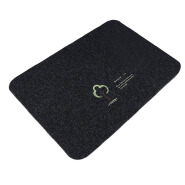 (CHAKME) Widely used brand logo black washable kitchen area rugs