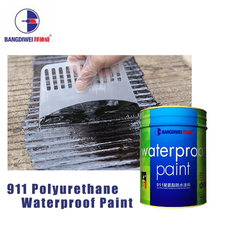 Green Single water based basement interior Component Polyurethane Waterproof Coating /Paint