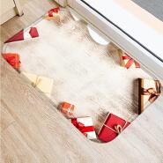 Soft memory foam printed christmas place mats floor door mat