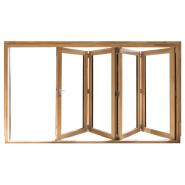 Manual control/remote louvers fold aluminum glass folding door