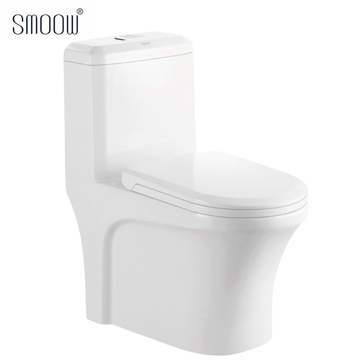 Wholesale price sanitary ware siphonic one-piece S-trap ceramic toilet wc