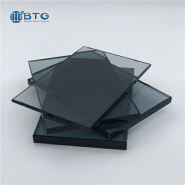 commercial 6mm 8mm 10mm brown tempered tinted glass