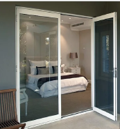 Exterior Thermal Break Aluminium Hinged Glass Doors