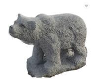 outdoor granite bear sculpture
