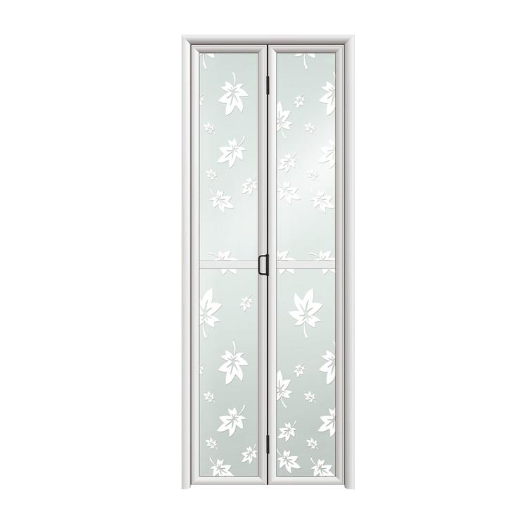double folding door aluminum glass folding door