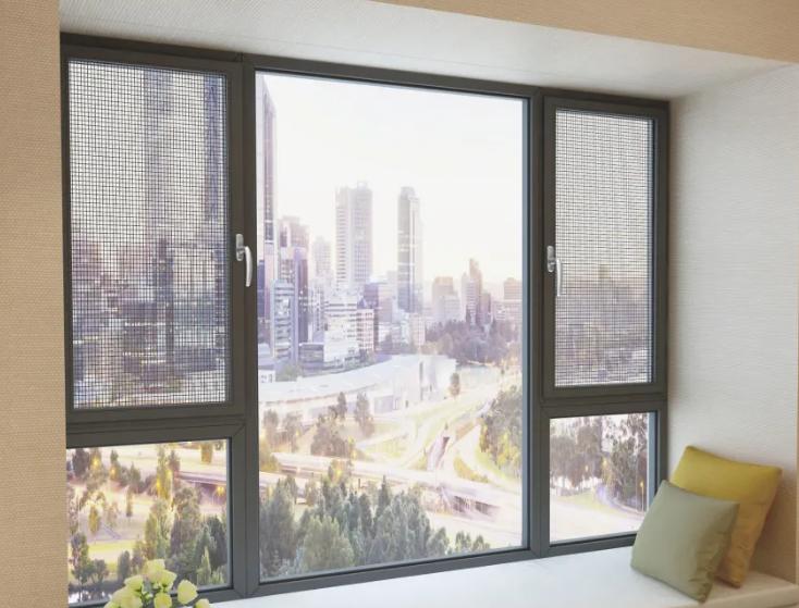 Thermal Break Profiles Aluminium Casement Glass Window System