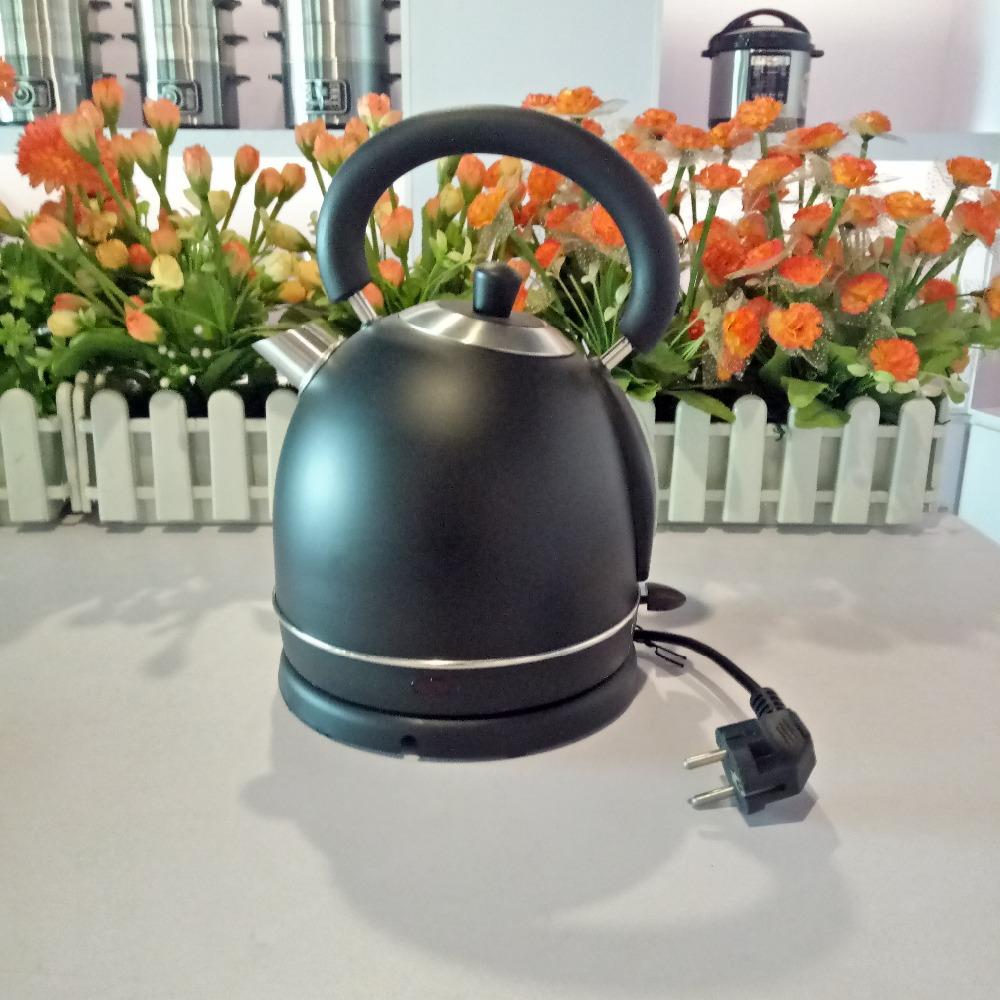 1.8L #201 SS Black lid electric kettle