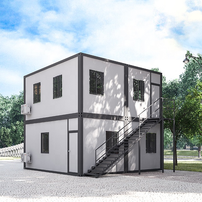 20ft Two floor Prefab container home Eco movable prefabricated Flat Pack container house