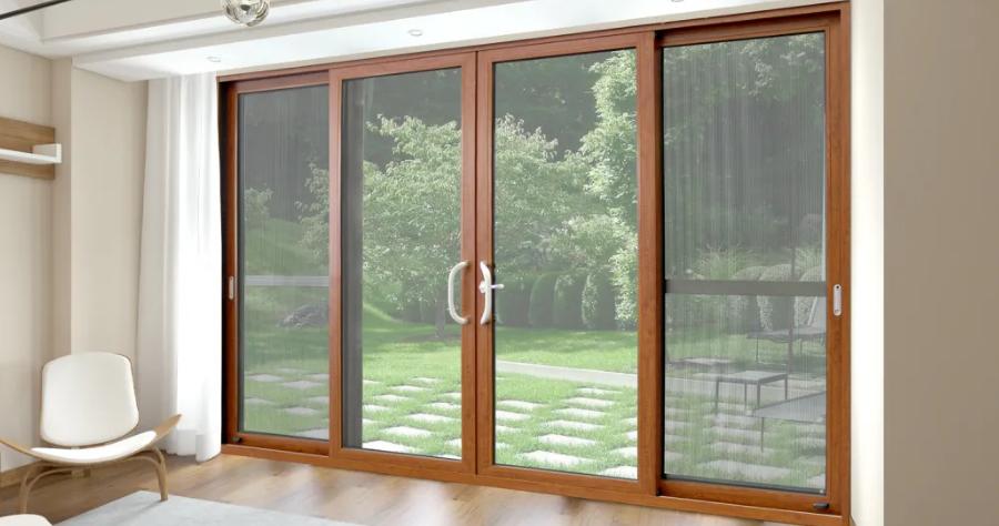 Thermal Break Aluminum/Aluminium Glass, Glazing Swing, Sliding, Hinged, Folding Doors