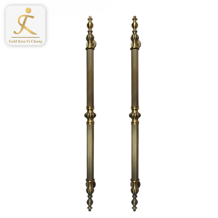 manor gate front door brushed gold metal home door handles luxury big gold color stainless steel door handle in steel
