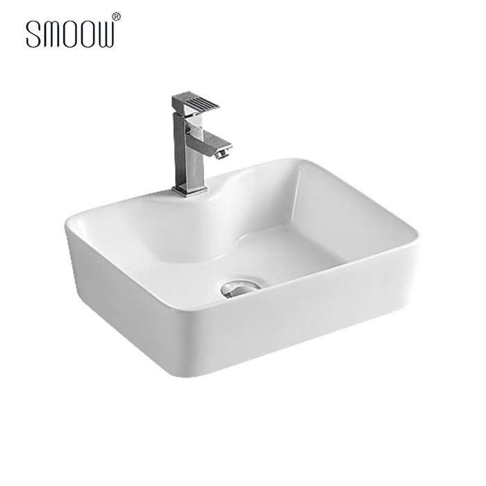 Classic design porcelain rectangular wash hand art basin for all sizes