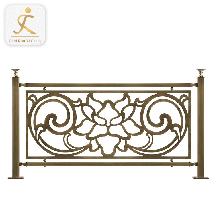 custom decorative metal indoor antique moulding ss baluster duplex house rose gold stainless steel stair railing