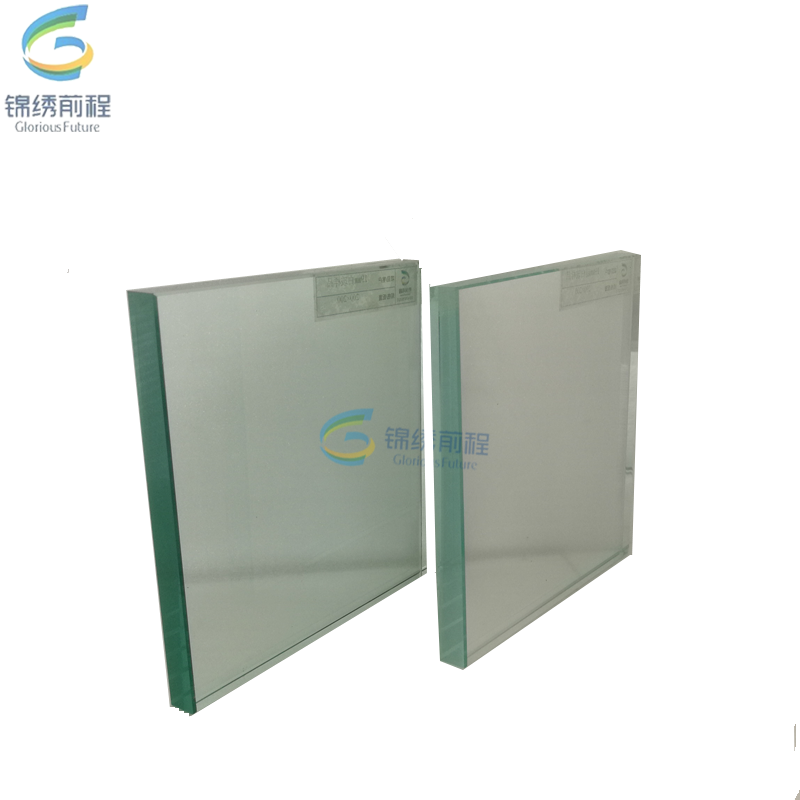 Polished edge toughened clear glass/tempered glass