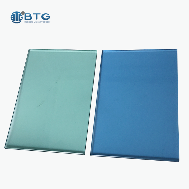 supplier 12mm 15mm 19mm green tempered tinted glass