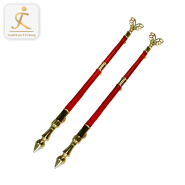 Chinese style 316 stainless steel gold and red 85mm door pull handle 304 stainless steel tubular door handles