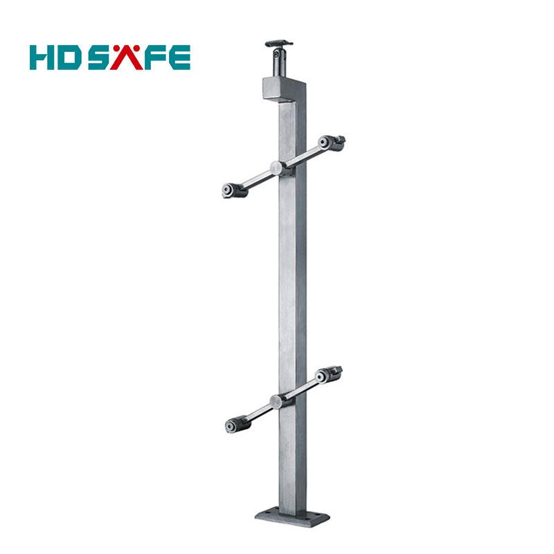 Stainless steel tempered glass railing / hospital handrail / handrail pillar