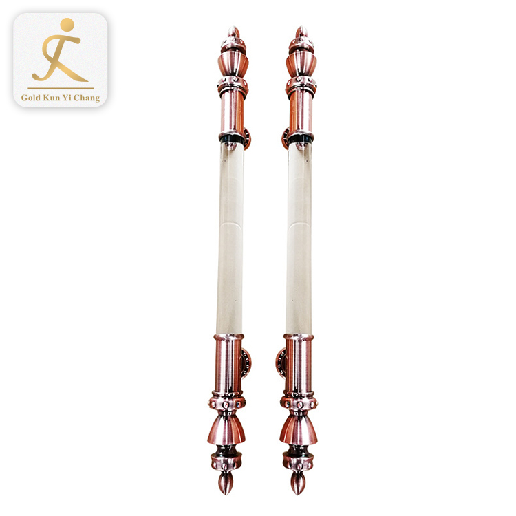 large house satin art deco royal rose gold and white door handles for large wood door stainless steel push pull door handle