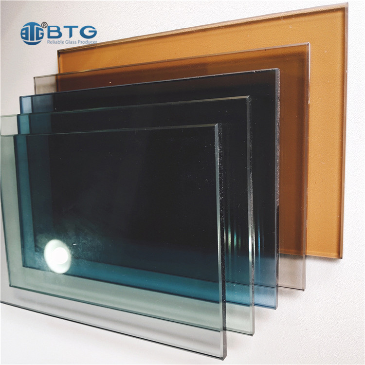 8mm 10mm 12mm hot bending tinted glass