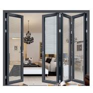 Snow resistant Thermal break double glass aluminium exterior patio folding door