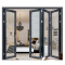 Snow resistant Thermal break double glass aluminium exterior patio folding door