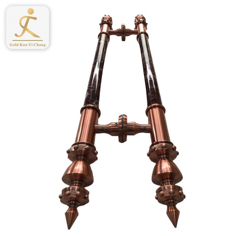 antique design tube handle marine grade sliding mirror door handles hotel door h shaped 304 316 stainless steel pipe handle