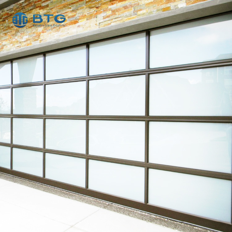 4mm+6A+4mm sand blasting frosted insulated glass