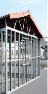light steel frame partition wall for galvanized steel homes