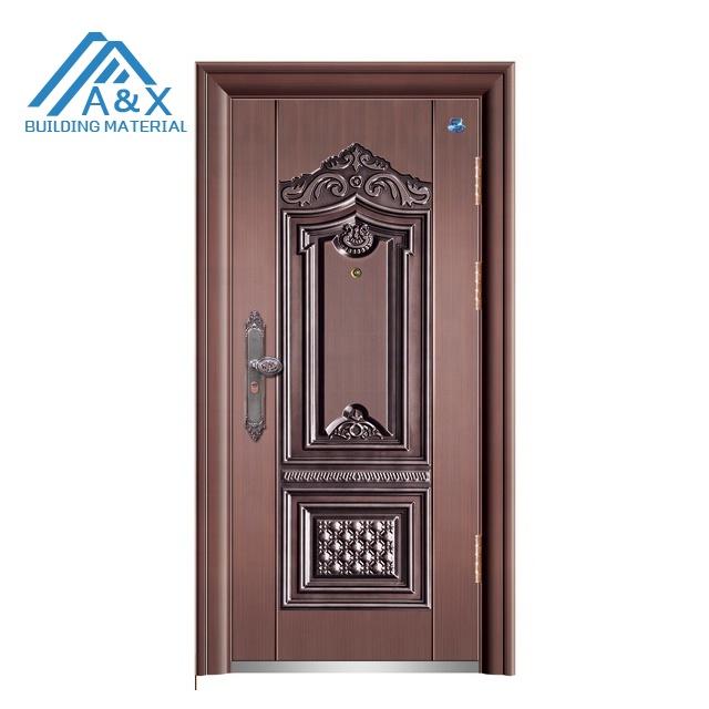 Steel Security Entrance Door/ Bronze color