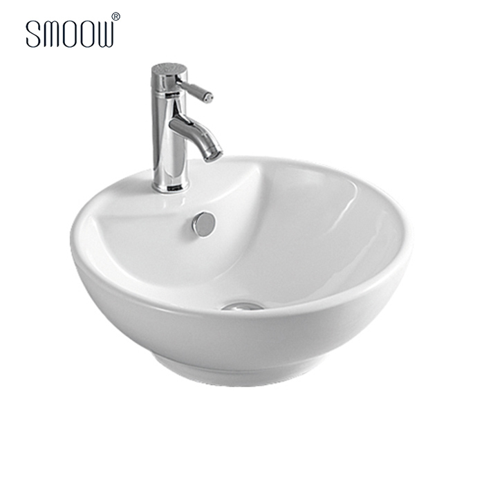 China customized modern design simple round ceramic wash hand art basin