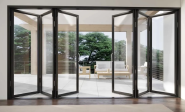 Thermal Break Profile Aluminium Glass Folding Door Systems