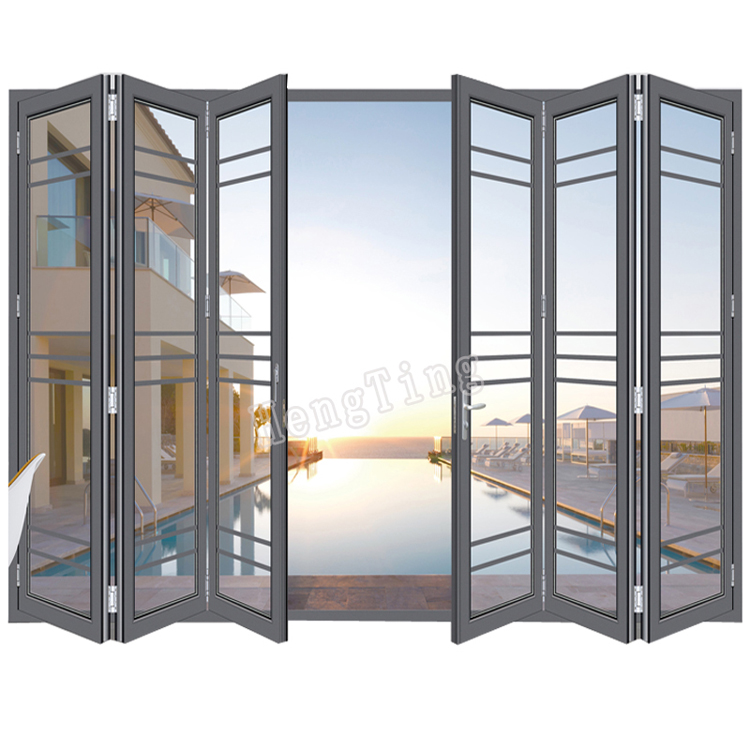 manual louver folding patio accordion door
