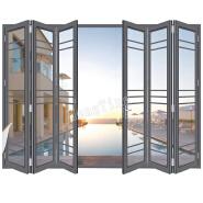 manual louver folding patio accordion door